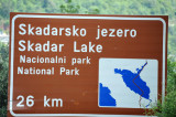 The west side of Lake Shkodër included Montenegro's Skader Lake National Park