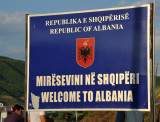I chose to drive around the east side through Albania instead