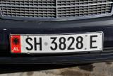 Albanian license plate