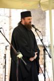Serbian Orthodox priest addressing the festival