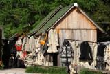 Knitwear on offer in Sirogojno