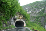 Tunnel on the road from Mokra Gora, Serbia, to Višegrad