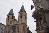 Sarajevo Cathedral on a grey rainy day