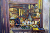Painting of the shop of the Papo family, which stood on the same site for 300+ years