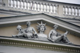 Detail of the National Museum, founded in 1888 under the Hapsburgs