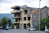 War damage in Mostar from the 1992-1993 siege