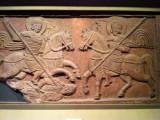 Slate relief of Two Horsemen, Kiev ca 1062