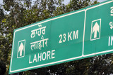 From the Wagah border, it's only 23km to the major Pakistani city of Lahore