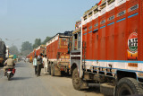 Indian exports headed for Pakistan in a mile long queue
