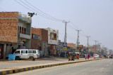 The first major town of Pakistani Punjab on the drive from the border to Lahore