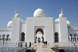 The Sheikh Zayed Mosque is a blend of Moorish and Mughal styles
