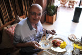 Dad at Mezlai, Emirates Palace Hotel