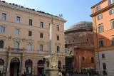 The Pantheon seen across the Piazza della Minerva