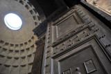 Original ancient Roman bronze door and dome