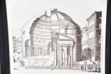 Architectural drawing of the Pantheon