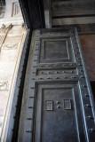 The bronze doors are original