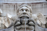 Detail of the 16th C. fountain by Giacomo Della Porta, Piazza della Rotonda