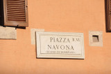 Sign for Piazza Navona, Rome
