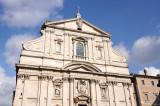 Chiesa del Gesù with the façade by Giacomo della Porta