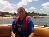 Me headed for Ilha do Mussulo