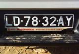 Luanda license plate