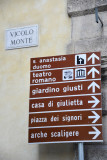 Signs for Verona's points of interest