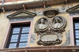 Detail of the Palazzo del Comune (Palazzo die Lamberti)