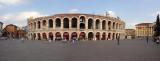 Panorama of Piazza Brà and Verona's ancient arena