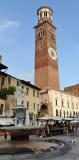 Piazza delle Erbe with the Torre dei Lamberti