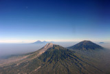 The volcanoes of Central Java, Indonesia