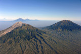 The volcanoes Merapi and Merbabu, Indonesia