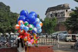 Selling balloons near Lahore Fort