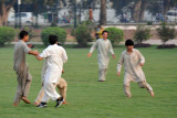 A game of soccer in Iqbal Park, Lahore