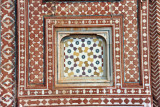 Detail of the inlaid stonework on the gate to the Tomb of Jahangir