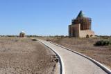 Pathway leading from the minaret to the Sultan Tekesh Mausoleum, Konye-Urgench