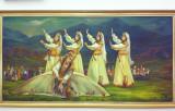 Artwork in the terminal of Dashoguz Airport
