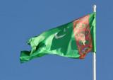 The flag of Turkmenistan