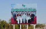 Billboard of the new president of Turkmenistan, Gurbanguly Berdimuhamedow