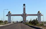 The gate of Daşoguz, Türkmenistan