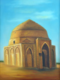 Another painting in the Uzboy Hotel, Dashoguz