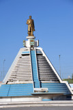 I learned that any gold statue in Turkmenistan is most likely of Turkmenbashy