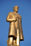 There are hundreds of golden statues of Turkmenbashy throughout the country