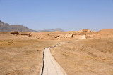 Pathway leading across the center of the archaeological area