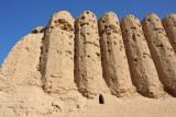 Corrugated walls of the Kyz Kalas of Merv are unique in Central Asia