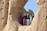 A group of Turkmen tourists visiting Merv