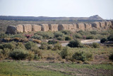 The walls of Soltangala, or Sultan's Fortress, the largest of Merv's 5 ancient walled cities
