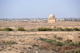 The Mausoleum of Sultan Sanjar in the center of the Soltankala to the west of the Erk Kala and Giaur Kala