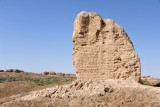 Little remains of the Seljuk palace in the Shahryar Ark of Sultan Qala, Merv