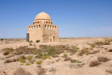 The Mausoleum of Sultan Sanjar stands alone in the center of the Sultan Qala, the largest of Merv's ancient cities