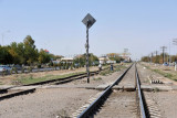The Turkmenistan Railway passing through Merv